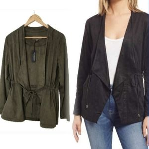 BLANKNYC Faux Suede Drapy Jacket